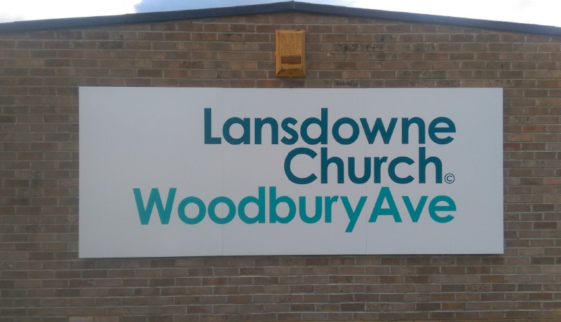 Lansdown Church Signage