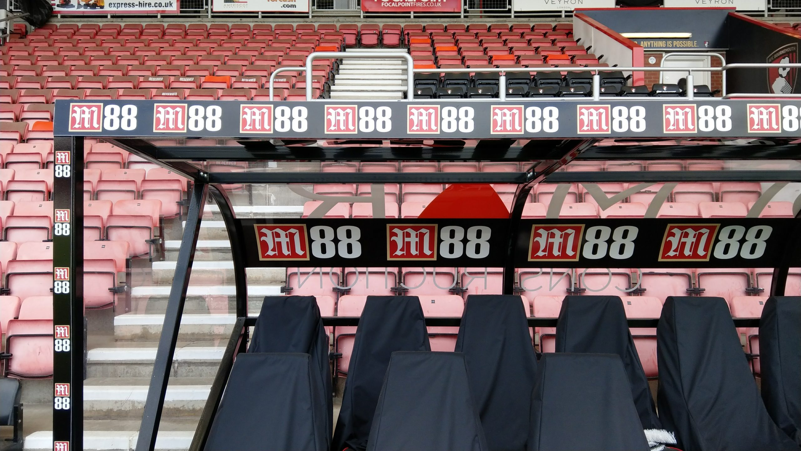 AFC Bournemouth Dugout signage